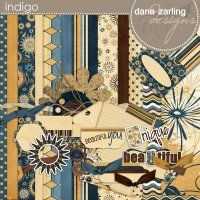 Indigo Page Kit by Dana Zarling @Digitals because the colors caught my eye