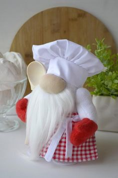 Excited to share this item from my shop: Kitchen gnome Chef Gnome Mother's Day gift Cook Chef Scandinavian gnome Kitchen decorations Sewing Projects, Craft Projects, Projects To Try, Christmas Decorations, Christmas Ornaments, Kitchen Decorations, Scandinavian Gnomes, Gifts For Cooks, Christmas Gnome