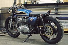 1975 Honda CB750 on a Budget. Original paint and really raw styling