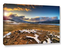 The Winter Sun by Dragos Dumitrascu Photographic Print on Wrapped Canvas