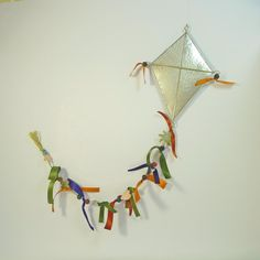 The Fairy tale kiteWall Sculpture ArtWall Sculpture Kids Wall Decor, Wall Art Decor, Kite Decoration, Metal Crafts, Diy Crafts, Colored Paper, Clay Beads, Wall Sculptures, Decorative Objects