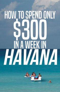 Saving money in Cuba is easy! If you do things like a Cuban, it's dirt cheap - even in Havana.