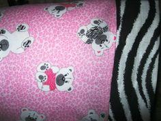 Zebra Bears so so cute MINI Pillowcase kidstravel pillowcase | MadeAtNanas - Housewares on ArtFire