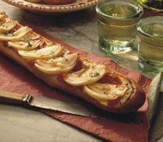 Crusty Onion Bruschetta  #appetizer #recipe #bruschetta