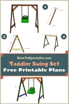 This step by step woodworking project is about wooden toddler swing set made from plans. I have designed this super simple toddler swing so you can build it with and screws. Small Swing Sets, Baby Swing Set, Toddler Swing Set, Swing Sets For Kids, Brooklyn Blonde, Ikea Hacks, Diy Swing, Outdoor Baby Swing, Diy Hammock