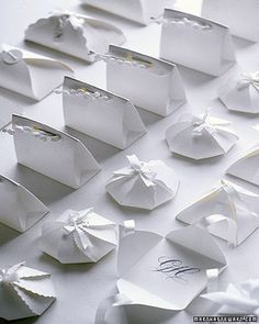 Free Printable Wedding Favors | POPSUGAR Smart Living - Favor Boxes:  If you're looking for a simple wedding favor, we've found just the thing! These white favor boxes are elegant and simple. ***