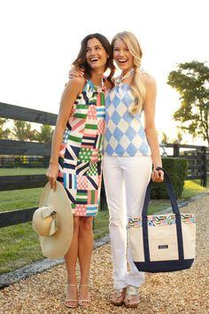 I want the Vineyard Vines Ky Derby print dress (left)