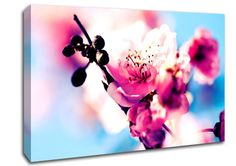 Beautiful Cherry Blossom Flowers Canvas Stretched Canvas