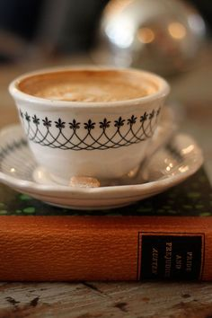 Latte and book
