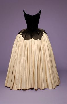 "Charles James  ""Petal"" Ballgown Black velvet and silk satin, 1951"