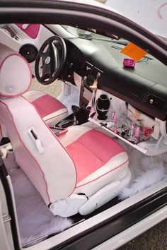 cute kawaii pink girly barbie pink car car interior pink cars soft ghetto cyber ghetto Source by UniqueIntegrity Pink Car Interior, Custom Car Interior, Car Interior Decor, Car Interior Design, Bling Car Accessories, Car Interior Accessories, Car Accessories For Girls, Lux Cars, Pink Cars