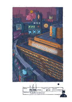 building SUCU00BU corporation from comics PRIIME (VR00), Tomas Ciger Eniac on ArtStation at https://www.artstation.com/artwork/xwPVE