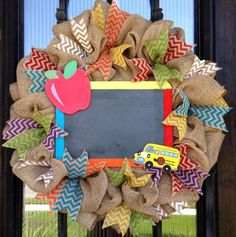 Hey, I found this really awesome Etsy listing at https://www.etsy.com/listing/198171322/back-to-school-chevron-burlap-teacher