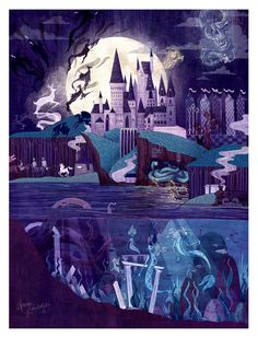 Or this detailed depiction of Hogwarts through the years: