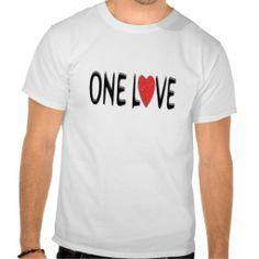 One Love T Shirt £14.95
