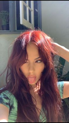 Hair Color Streaks, Hair Dye Colors, Hair Highlights, Hairstyles Haircuts, Pretty Hairstyles, Red Hair Inspo, Dye My Hair, Dyed Red Hair, Aesthetic Hair