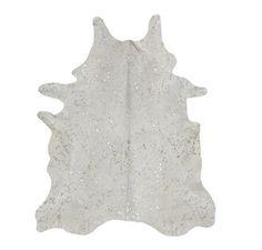 2bbfe85e751 Alfombra Piel de Vaca Acid Wash Plata TI-605 Acid Burnt Cow Skin Rug -  Pearl Silver