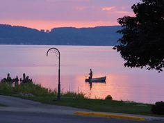 Sunset On Lake Charlevoix at Boyne City, Michigan