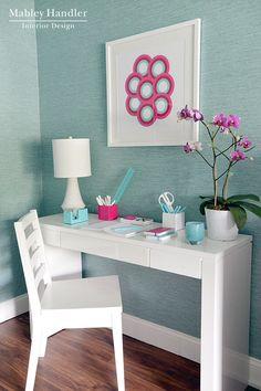 cute desk area