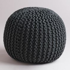 One of my favorite discoveries at WorldMarket.com: Charcoal Knitted Pouf - this would be awesome in turquoise