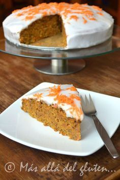 Más allá del gluten...: Torta de Zanahoria Vegana (Receta GFCFSF, Vegana)