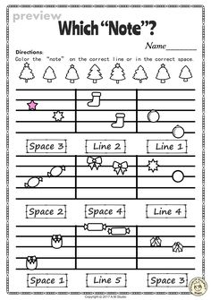 This set of 20 Music worksheets Christmas themed is designed to help your students practice identifying whether a pitch is on a line or in a space and practice high/low pitches.#elmused #musictpt #music #musicworksheets #musiceducation #AMStudio
