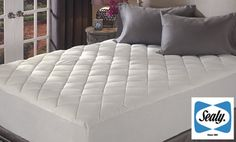 Groupon - Sealy ReliaGrip 300 Thread-Count Egyptian-Cotton Mattress Pad in Full, Queen, King, or California King (Half Off). Groupon deal price: $29.99