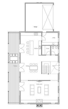 Modern beach house plans
