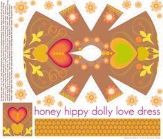 honey hippy dolly love dress fabric by scrummy on Spoonflower - custom fabric