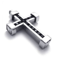 Blue and titanium cross pendat 21430 cross pendants pinterest titanium cross pendant with black zircons 21142 mozeypictures Images