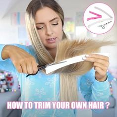 Trim Your Own Hair, How To Cut Your Own Hair, Trim Bangs, Hair Thinning Scissors, Pelo Bob, Professional Hairstyles, Styling Tools, Hair Tools, Natural Makeup