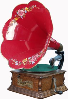 "antique phonographs | VCA | Antique Countertop ""The Graphophone\"" Phonograph Player c1900 ..."
