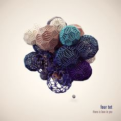 3d molecular polyhedra, muted rich color - fourtet album cover.
