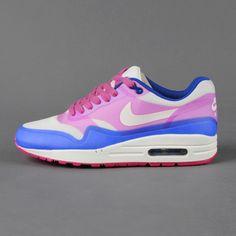 Sneaker Nike - WMNS Air Max 1 HYP PRM (Sail / Pink Force / Hyper Blue)