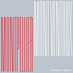 Stage 12 of #tourdefonts. Today is the monumental climb of Mont Ventoux. Inspired by De Little's Elongated Sans No.321