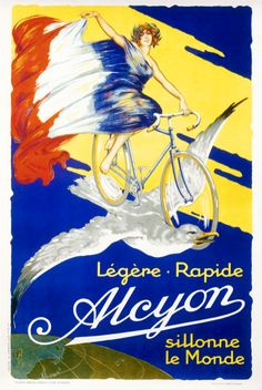 Six sizes from $29 TITLE: Alcyon ARTIST: Anonymous CIRCA: 1910 ORIGIN: France  Fine art giclee print on heavy acid free archival paper using 100+ year fade resistant inks.