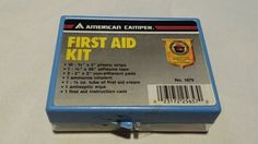 American Camper First Aid Kit Vintage US Forest Service Collectible New in Box #AmericanCamper