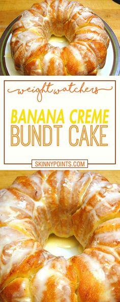 Banana Creme Bundt Cake - Weight watchers Smart Points Friendly