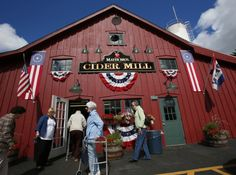 West Seneca, NY: Mayer Brothers Cider Mill is open only a few months each year and has amazing fresh-squeezed apple cider, slushies and treats. [They also make McKenzie's Hard Cider which tastes yummy and gets you druuuuunk!]