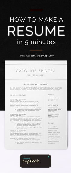 1 Page Resume Glamorous 1 Page Resume Template  Modern And Professional Cv Template Format .