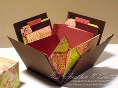 Explotion Scrapbook Box, step by step.