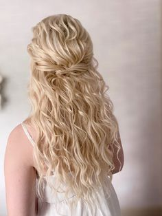 Blonde Bridal Hair, Boho Wedding, Wedding Ideas, Best Wedding Hairstyles, Luxury Hair, Half Up Half Down, Boho Fashion, Bohemian, Romantic
