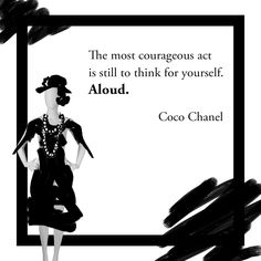 Coco Chanel transformed the fashion industry by standing strong to her ideas. Stand Strong, Ladies Day, Coco Chanel, Industrial Style, Acting, Holidays, Memes, Illustration, Fashion Design