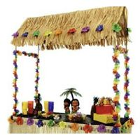luau decoration: make this with PVC?  fits on top of a table. Maybe a bit ambitious, but so cute.