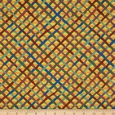 Designed by Brandon Mably for Westminster/Rowan Fabrics, this cotton print fabric is perfect for quilting, apparel and home decor accents. Colors include peach, wisteria, fern, forest green, brown and canary yellow.