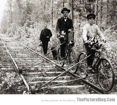Railway Bikes I'm Going To Make One Of These. So Kool