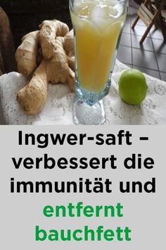 Ingwer-Saft - verbessert die Immunität und entfernt Bauchfett #bauchfett #entfernt #immunitat #ingwer #verbessert