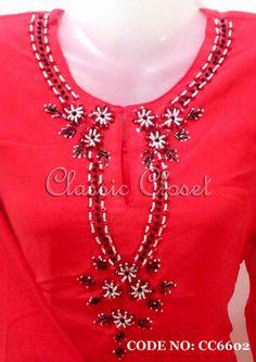 CC6602-38(S) baju kurung moden chiffon - Clothing