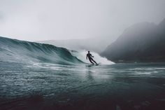Sometimes a caption doesn't describe the experience. This was one of my highlights in 2016. We surfed the Arctic Ocean at the Lofoten Islands. It started snowing during the session.