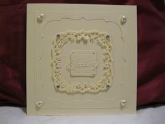 Wedding Card made with Couture Dies from Create and Craft